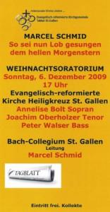 Weihnachtsoratorium von Marcel Schmid