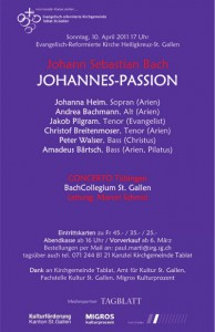 Flyer Johannes-Passion