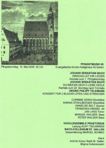 Flyer Pfingstkonzert 2005